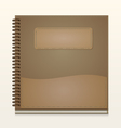 Paper notebook front cover vector image vector image