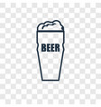 pint of beer concept linear icon isolated on vector image vector image