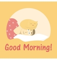 postcard good morning vector image vector image