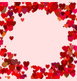 red random heart background design - love graphic vector image vector image