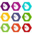 round welding mask icons set 9 vector image vector image