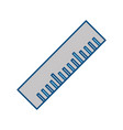 ruler tool isolated vector image vector image