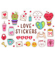 set isolated love stickers part 1 vector image vector image