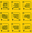 Set of motivational quotes about action bravery vector image vector image