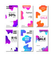 set sale banner background with fluid gradient vector image