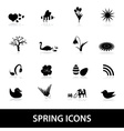 spring icons eps10 vector image vector image