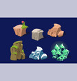 stones and rocks set user interface assets for vector image vector image