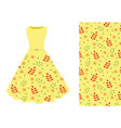 summer dress leaf pattern vector image