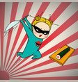super hero chef of japanese cuisine vector image vector image