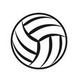 volleyball ball sports activity play competition vector image vector image