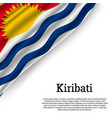 waving flag of kiribati vector image vector image