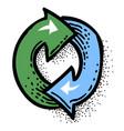 cartoon image of update icon refresh symbol vector image