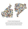 a group of people shaped as like and dislike sign vector image vector image