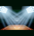Background for posters night basketball stadium in vector image vector image