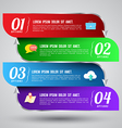 Banner options number vector image vector image