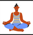 beautiful woman yoga lotus postition relax asana vector image