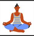 beautiful woman yoga lotus postition relax asana vector image