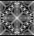 black and white lace floral seamless pattern vector image vector image
