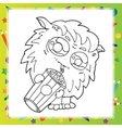 Black and White of Funny Monster vector image vector image