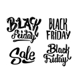 Black Friday Sale typography stickers vector image vector image