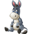 cartoon donkey sitting vector image