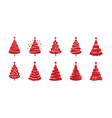 christmas tree symbol set holiday concept vector image vector image