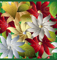 colorful decorative floral 3d seamless pattern vector image vector image