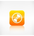 Compact disk icon Application button vector image vector image