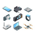 computer laptop smartphone and other electronic vector image vector image