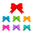 cute colored bow on white background vector image