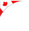 decorative canadian frame with red maple leaf vector image vector image