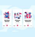 digital marketing banners set vector image vector image