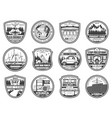 ecology nature environment conservation icons vector image