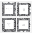 Elegant antique square picture frame