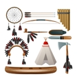 Ethnic american indigenous set vector image
