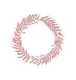 floral wreath leaves decoration icon vector image vector image