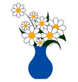 flowers in vase on white background vector image