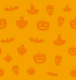fun halloween icons seamless background vector image vector image