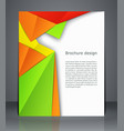 geometric design brochures magazine cover flyer vector image vector image