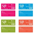 gift coupon set vector image vector image