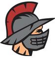 gladiator head logo mascot vector image vector image