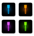 glowing neon barbecue spatula icon isolated on vector image