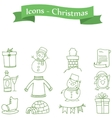 Green icon Christmas colection stock vector image vector image