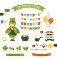 Happy St Patricks Day icon set vector image vector image