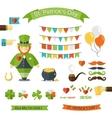 Happy St Patricks Day icon set vector image