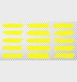 highlighter lines hand drawn yellow highlighter vector image