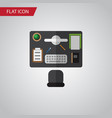 isolated office desk flat icon bureau vector image vector image