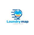laundry map logo vector image