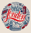 london with famous english vector image