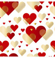 modern luxury valentines day seamless pattern vector image